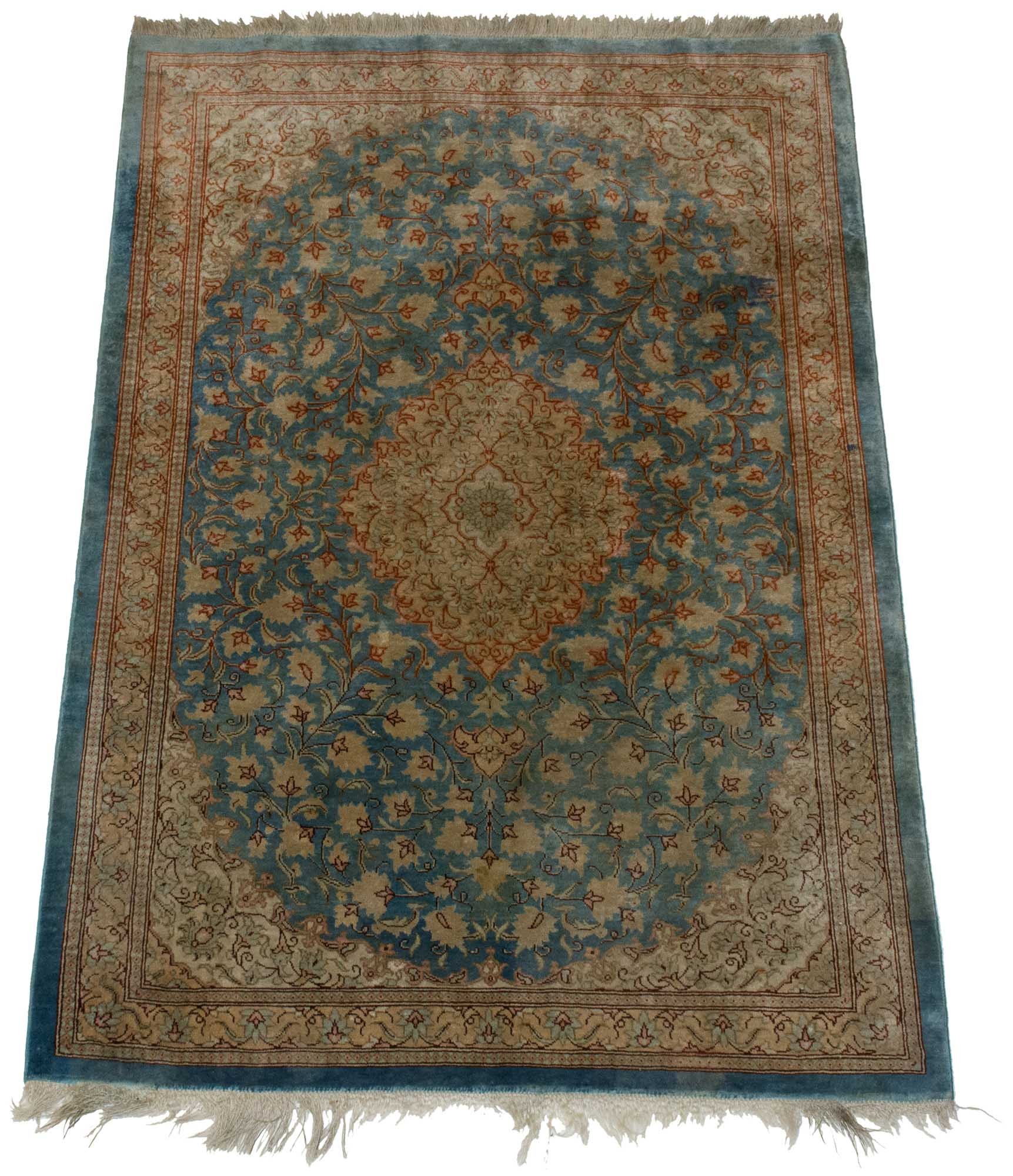 Lot image - Qum Silk Rug