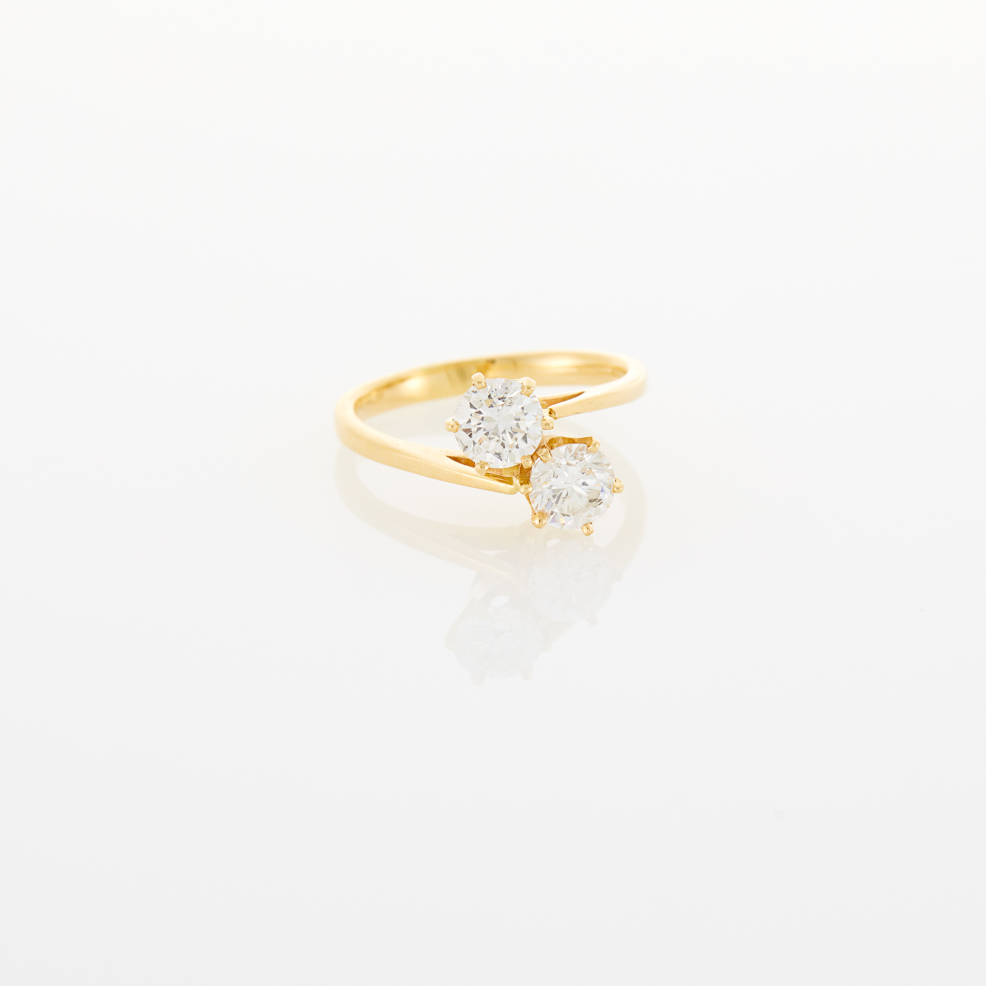Lot image - Gold and Diamond Bypass Ring