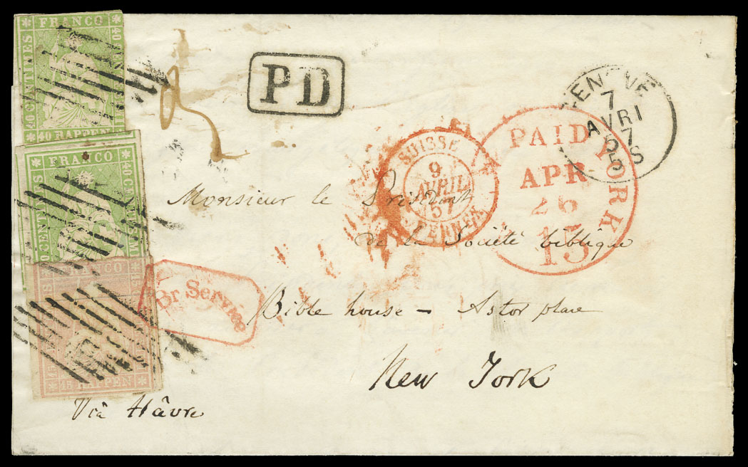 Lot image - Switzerland 1857 Combination Cover