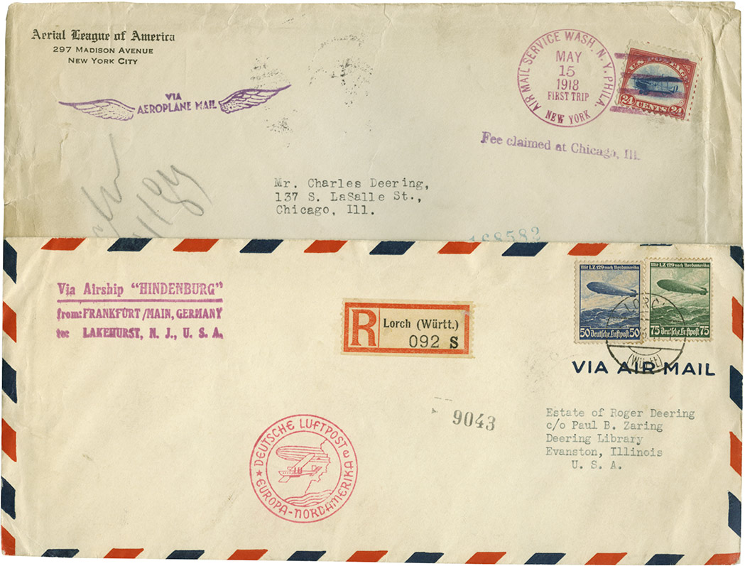 Lot image - United States and World Flight Covers