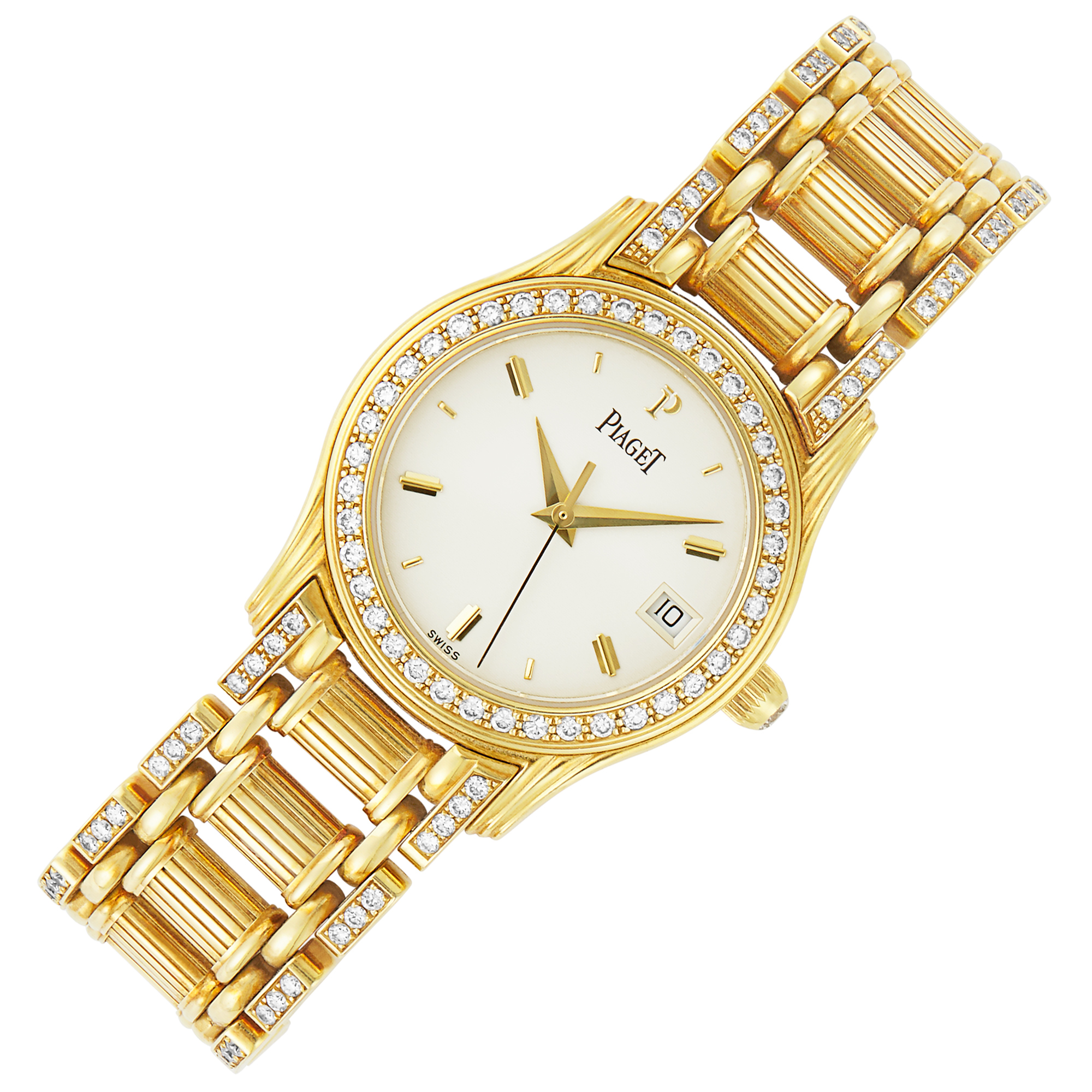 Lot image - Gold and Diamond Dancer Wristwatch, Piaget