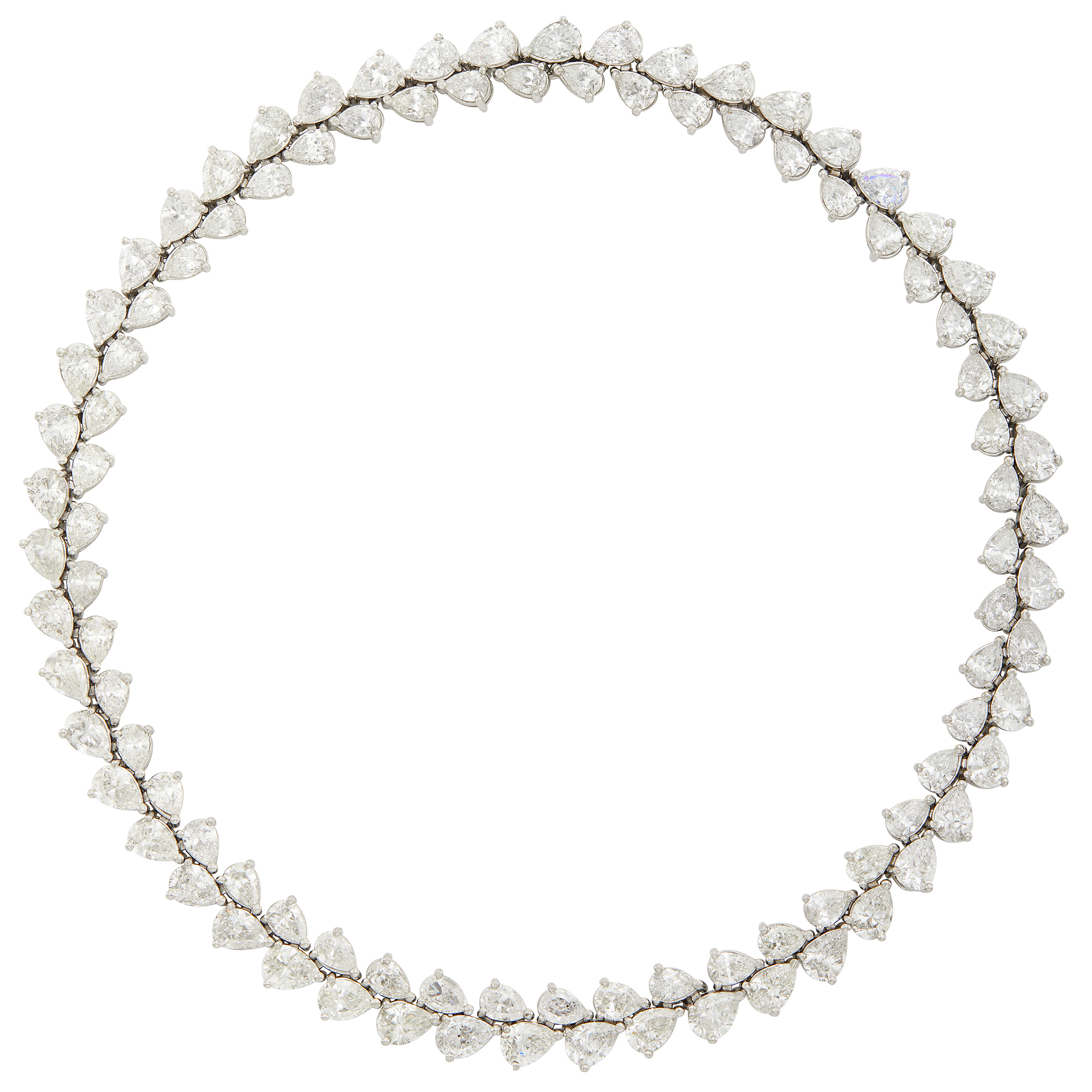 Lot image - Platinum and Diamond Choker Necklace