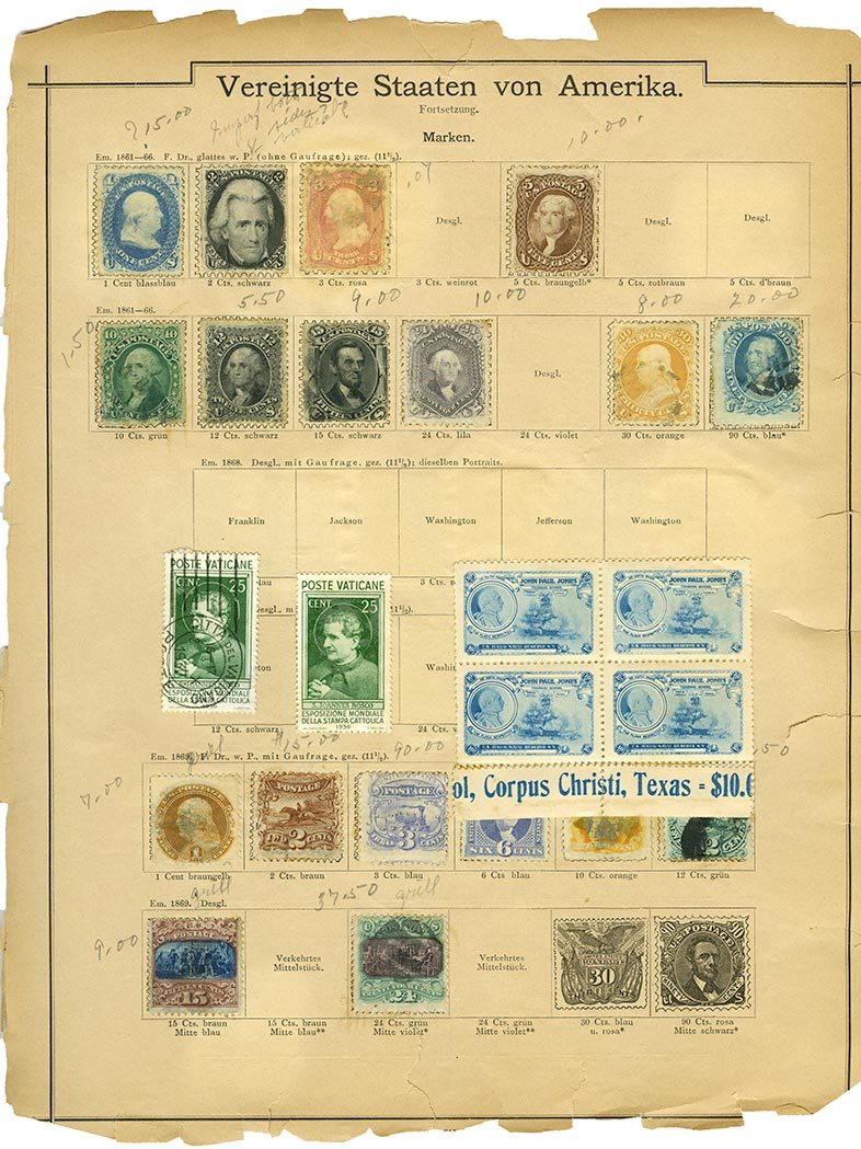 Lot image - Olde Tyme World Collection of Postage Stamps