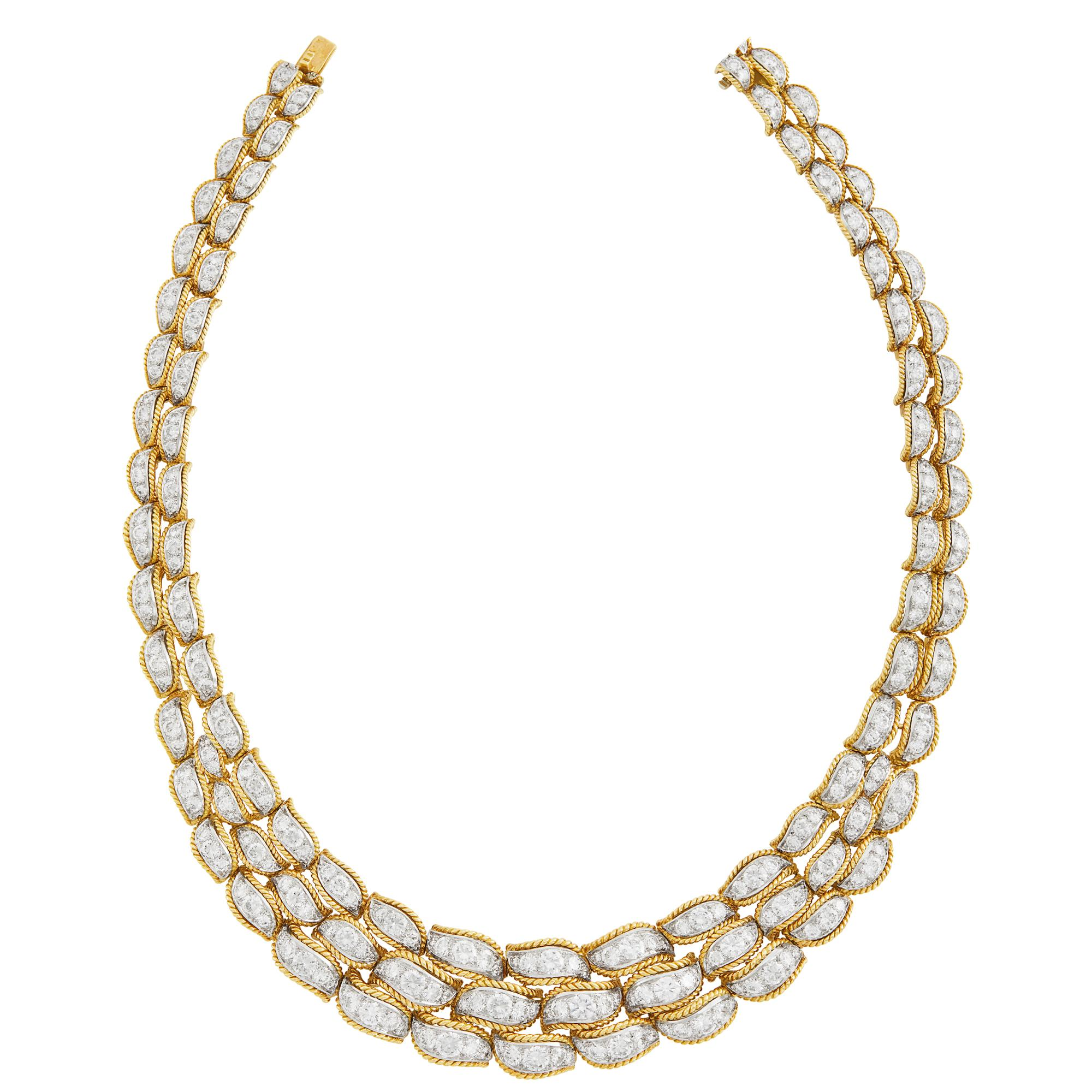 Lot image - Gold, Platinum and Diamond Necklace, Van Cleef & Arpels, France