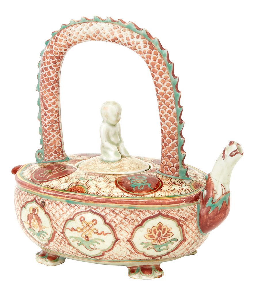 Lot image - Chinese Enameled Porcelain Teapot