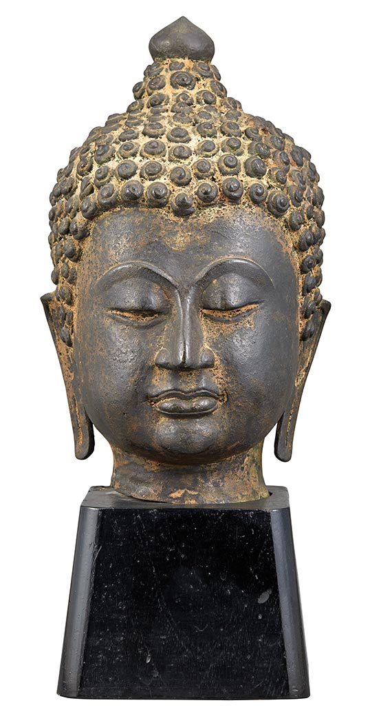 Lot image - Southeast Asian Bronze Head of Buddha