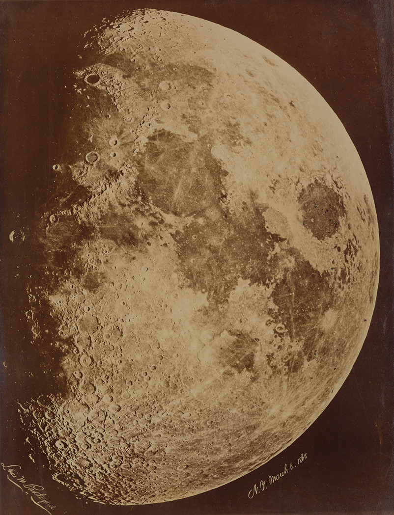 Lot image - [ASTROPHOTOGRAPHY]  RUTHERFURD, LEWIS MORRIS (1816-1892)  [The Moon] N.Y. March 6, 1865