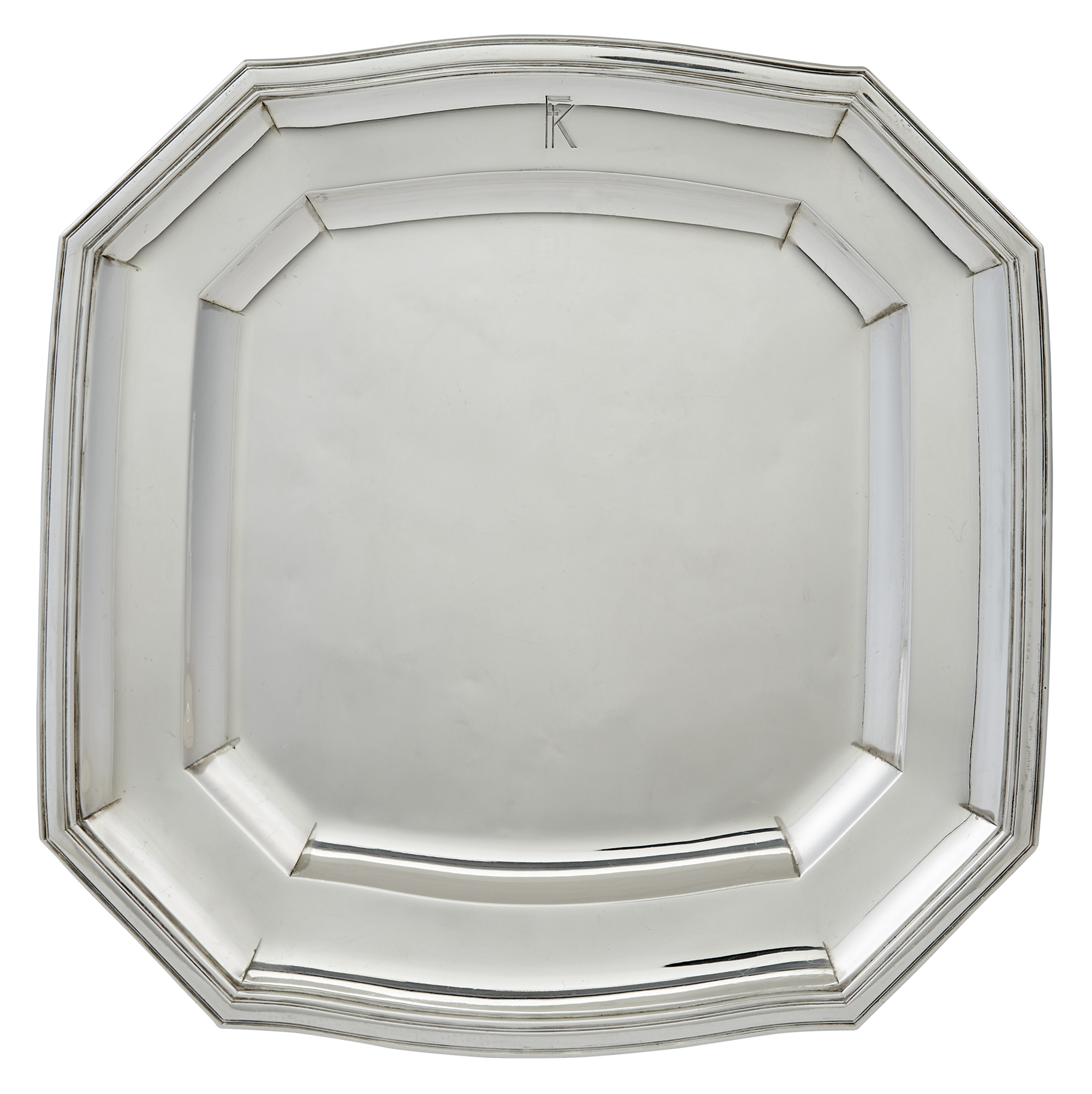 Lot image - French Sterling Silver Salver