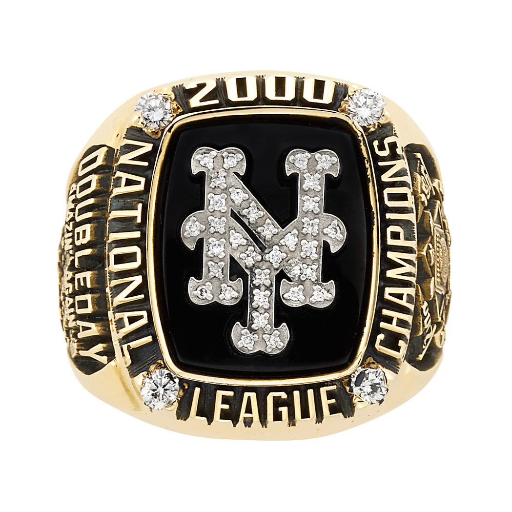 Lot image - Gold New York Mets 2000 National League Championship Ring