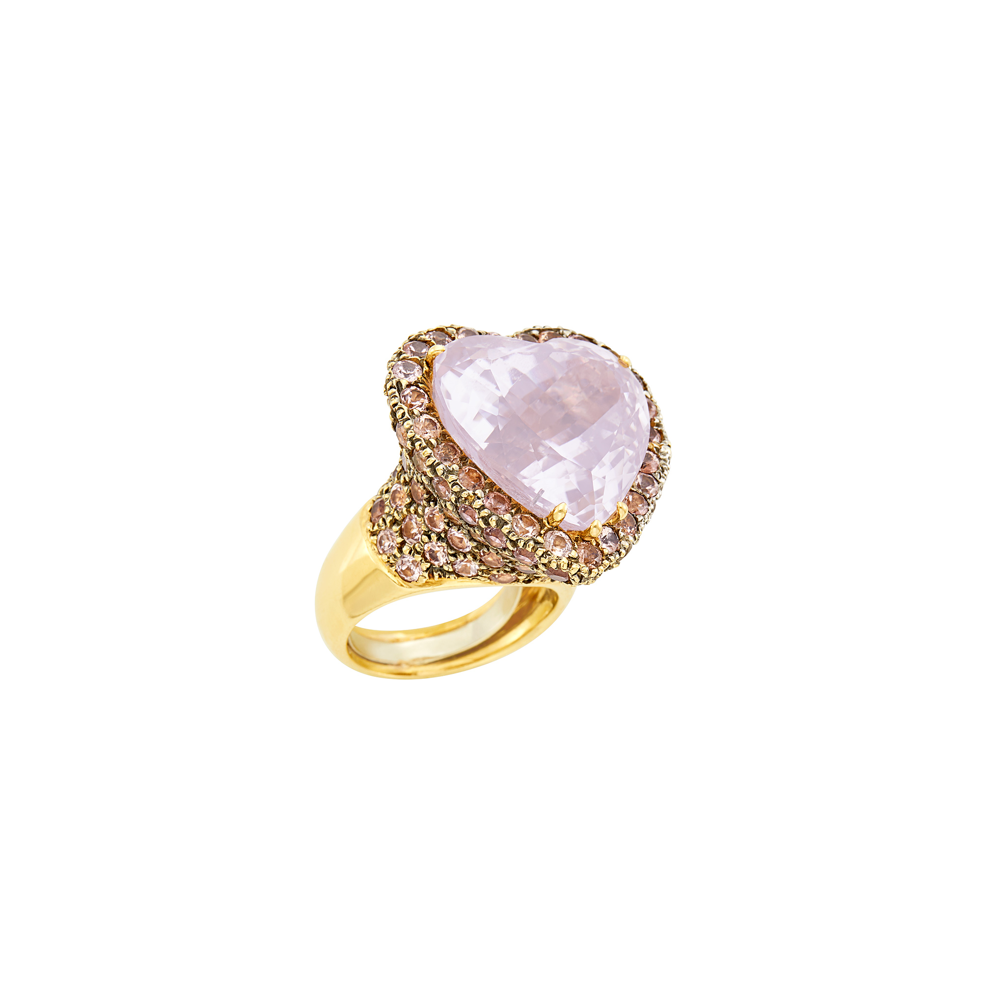 Lot image - Gold and Kunzite Ring
