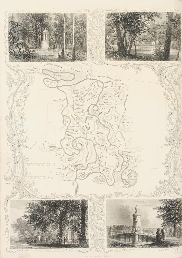 Lot image - [GREENWOOD CEMETERY]  CLEAVELAND NEHEMIAH. Group of three titles.