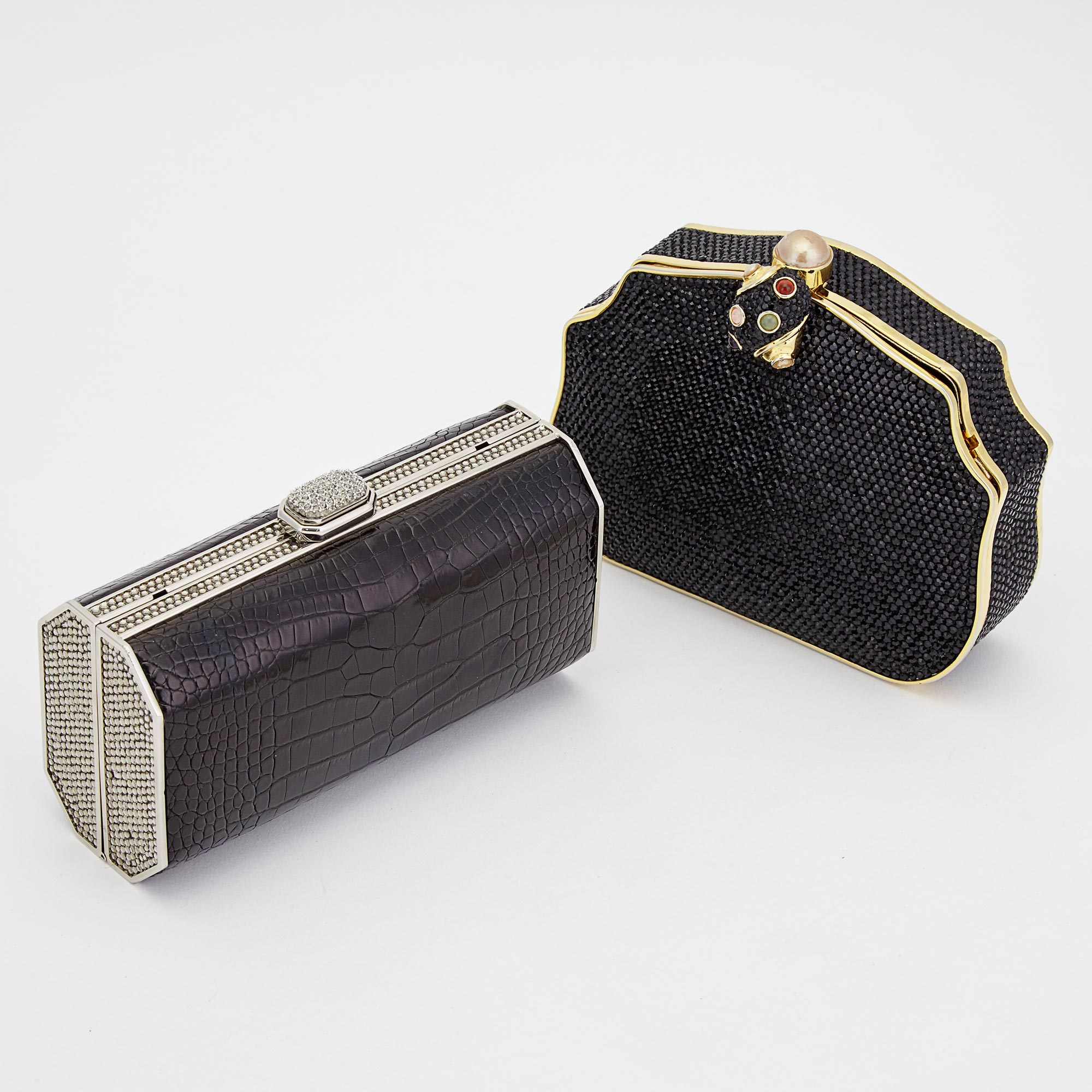Lot image - Two Rhinestone Evening Clutches, Judith Leiber
