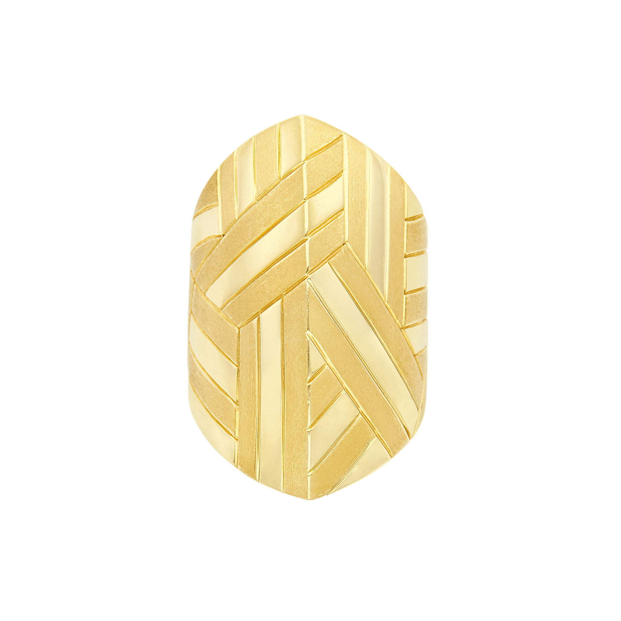 Lot image - Geometric Gold Ring, Andrew Sarosi