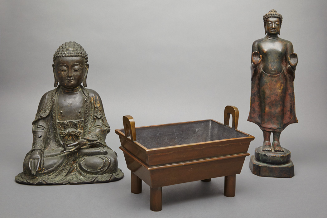 Lot image - Two Chinese Bronze Items