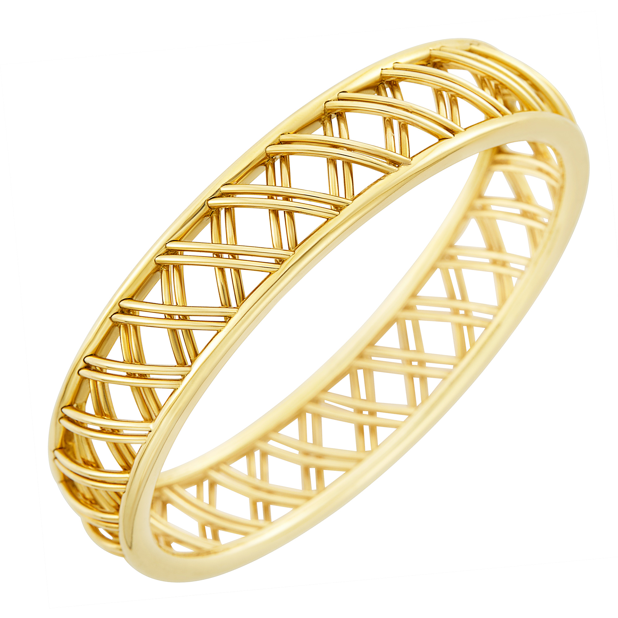 Lot image - Gold Trellis Bangle Bracelet, Tiffany & Co., Paloma Picasso