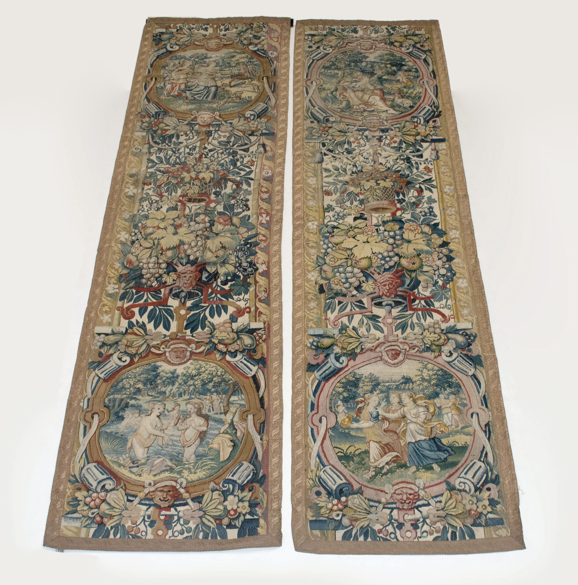Lot image - Pair of Flemish Tapestry Panels