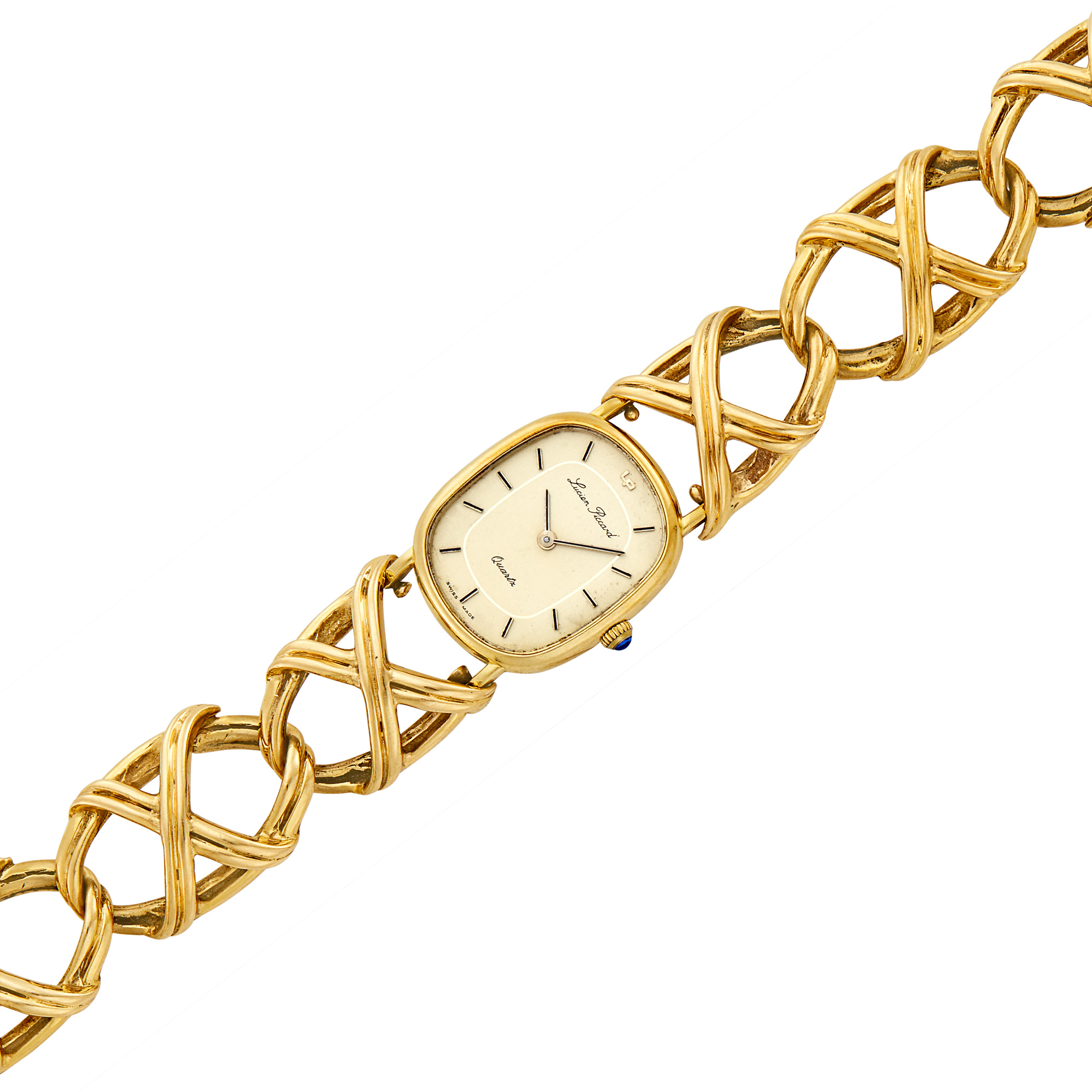 Lot image - Gold Bracelet-Watch, Lucien Piccard
