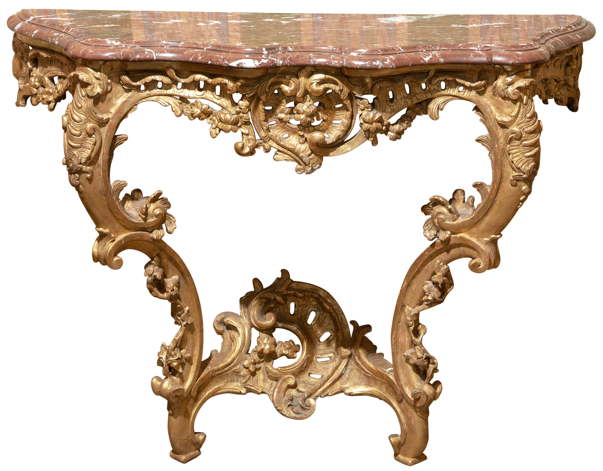 Lot image - Louis XV Giltwood Console