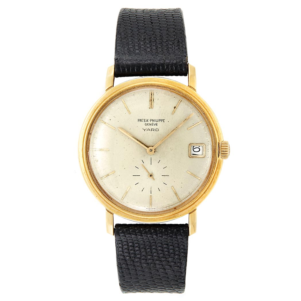 Lot image - Gentleman's Gold Wristwatch, Patek Philippe, Retailed by Yard, Ref. 3445