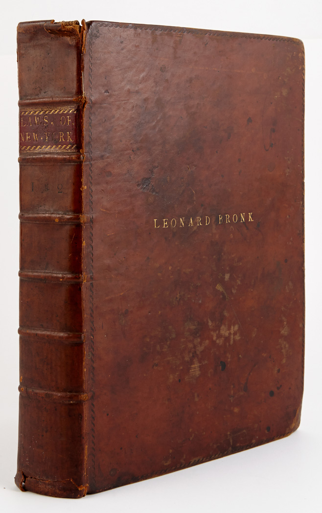 Lot image - [JONES, SAMUEL and VARICK, RICHARD]  Laws of the State of New-York, comprising the Constitution, and the acts of the legislature since the Revolution, from the first to the twelfth session, inclusive.