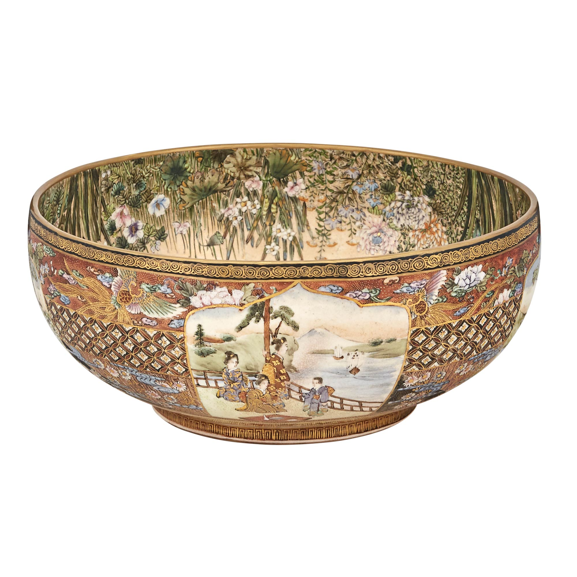 Lot image - Large Japanese Satsuma Bowl