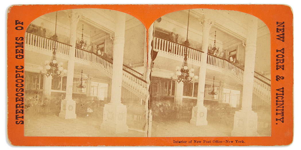 Lot image - [NEW YORK-PHOTOGRAPHY]  Group of photographically illustrated albums and stereo views.