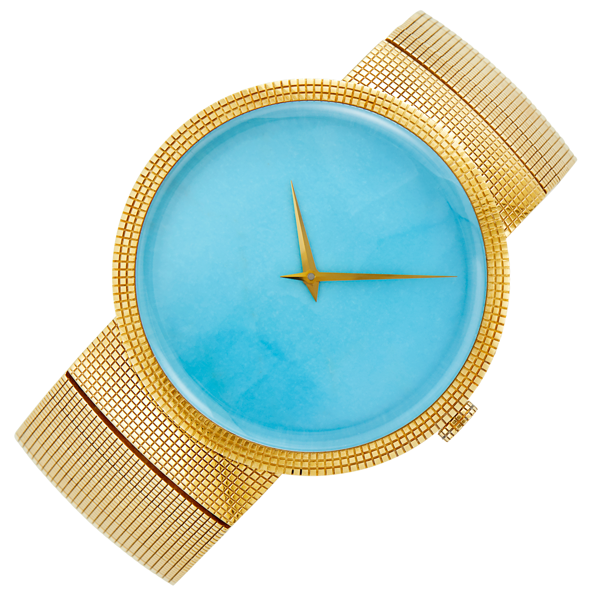 Lot image - Christian Dior Gold and Turquoise Wristwatch
