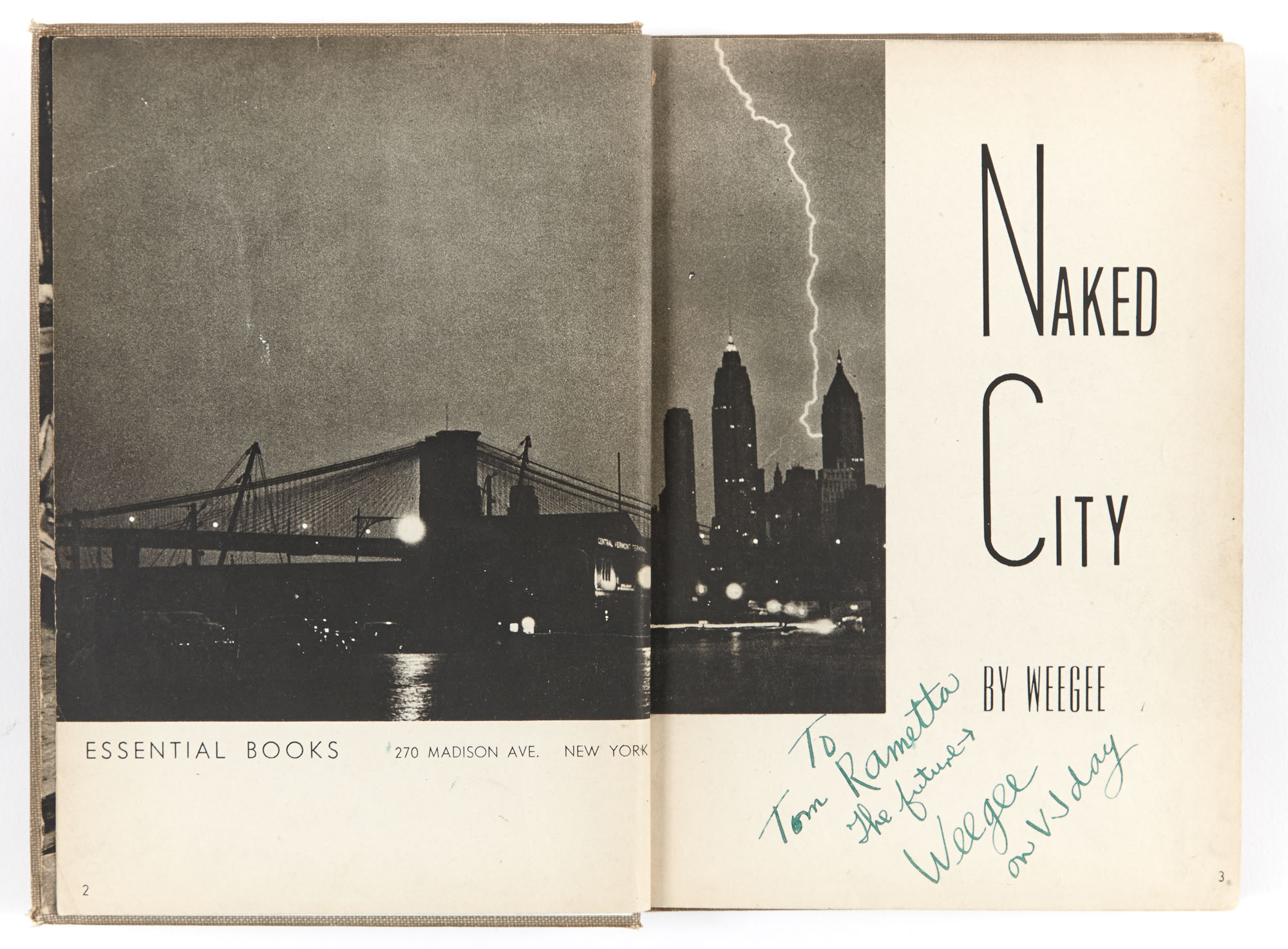 Lot image - WEEGEE  Naked City.