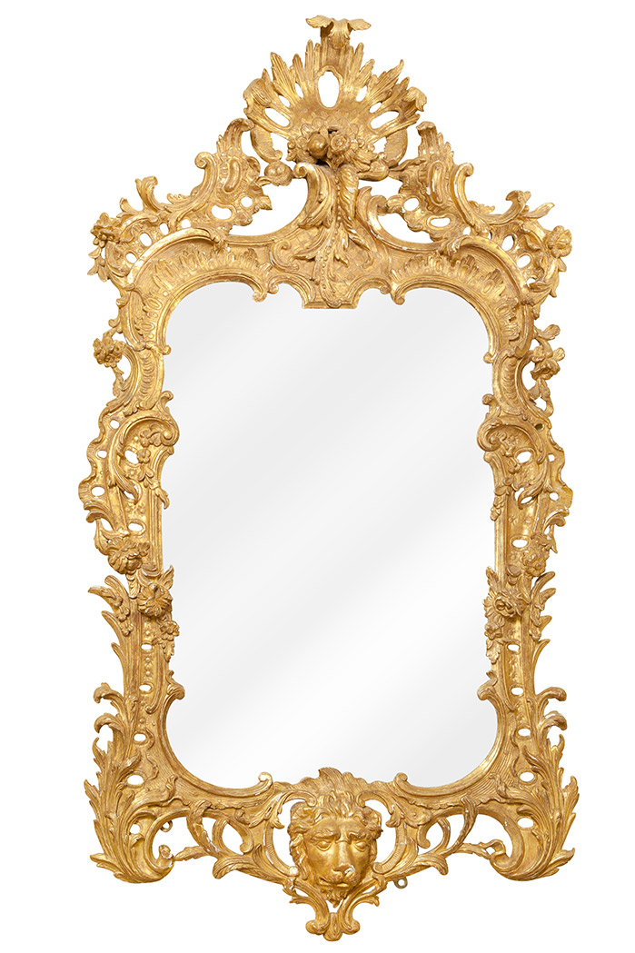 Lot image - George II Giltwood Mirror