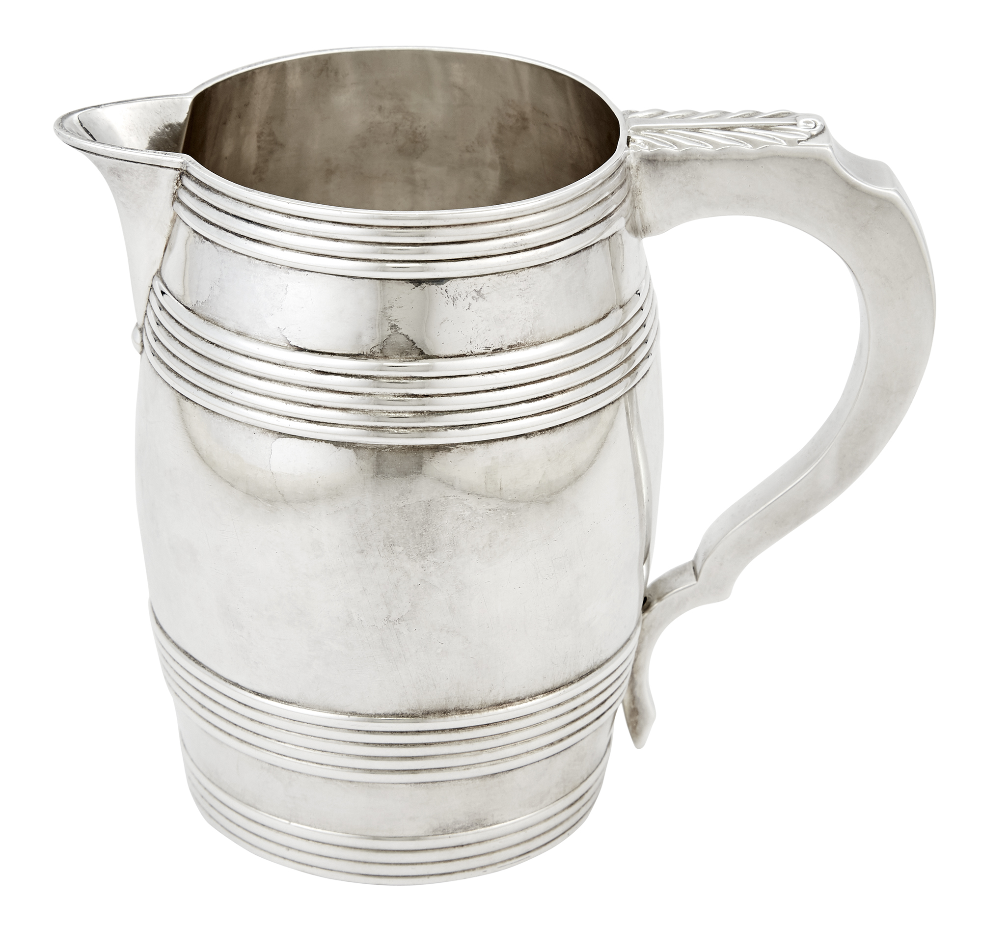 Lot image - George III Sterling Silver Beer Pitcher
