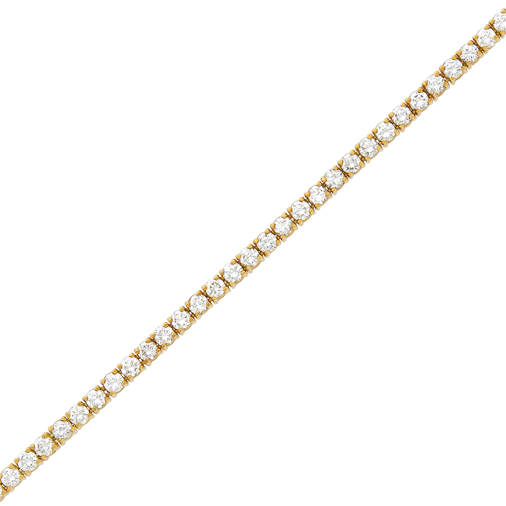 Lot image - Gold and Diamond Bracelet