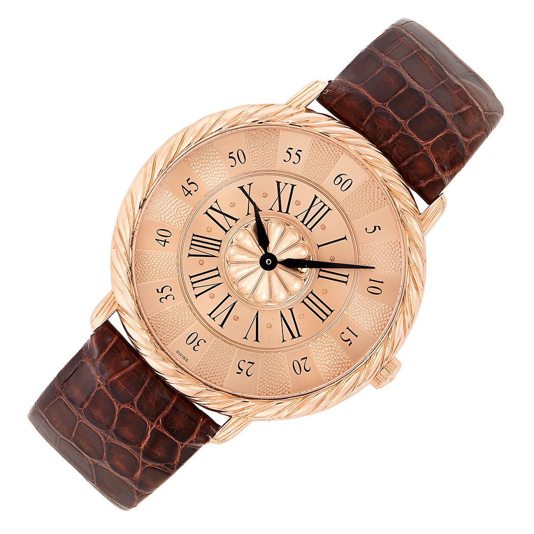 Lot image - Rose Gold Audachron Wristwatch, Buccellati
