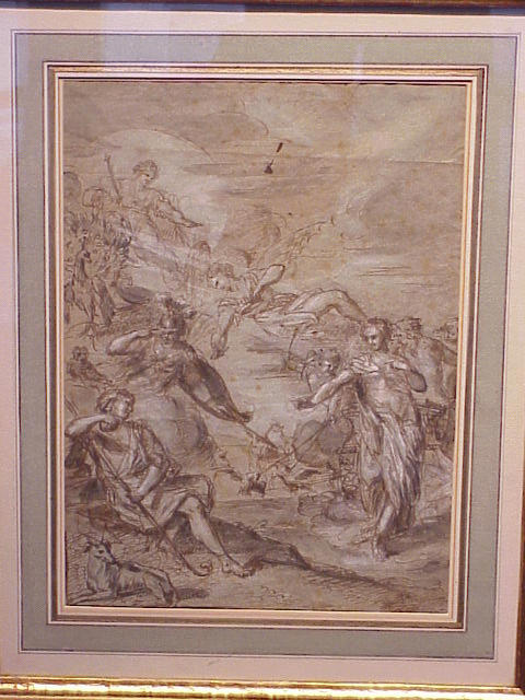 Lot image - French School 18th Century DAPHNIS AND CHLOE