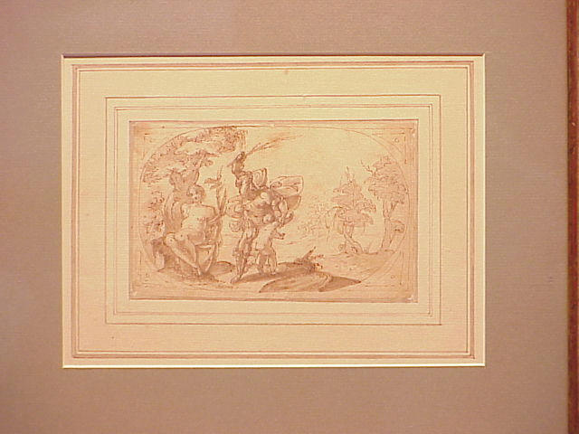 Lot image - Genoese School 17th Century MARS SCOURGING CUPID