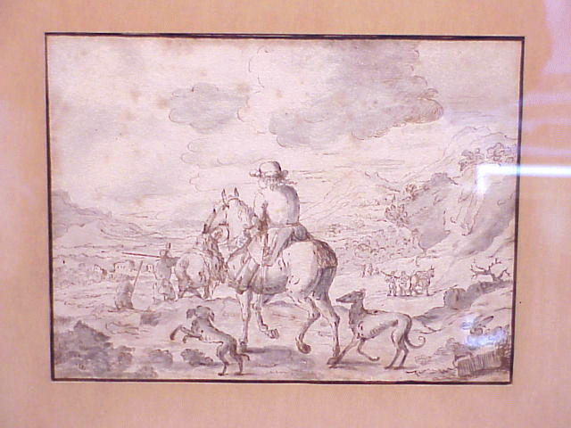 Lot image - Attributed to Jan Asselin TRAVELER IN A LANDSCAPE