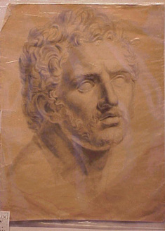 Lot image - French School 18th/19th Century ACADEMIC STUDY OF AN ANCIENT BUST