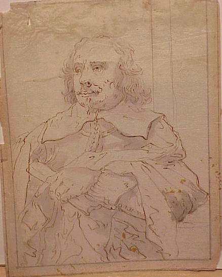 Lot image - Circle of Sir Anthony Van Dyck PORTRAIT OF A GENTLEMAN