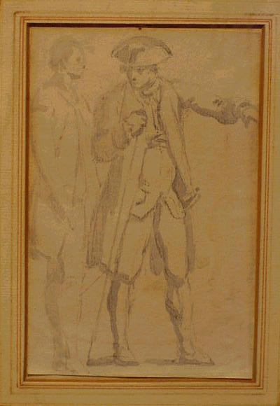 Lot image - Jacques Antoine Volaire French, 1729 - 1775 (i) TWO MEN IN CONVERSATION