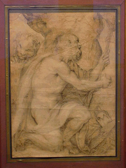 Lot image - Italian School 17th Century ST. JEROME IN THE WILDERNESS
