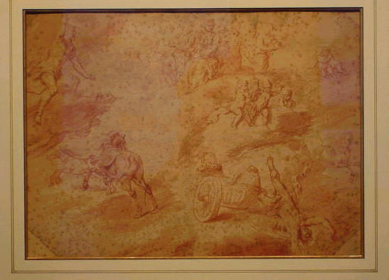 Lot image - Italian School 18th Century FALL OF PHAETON