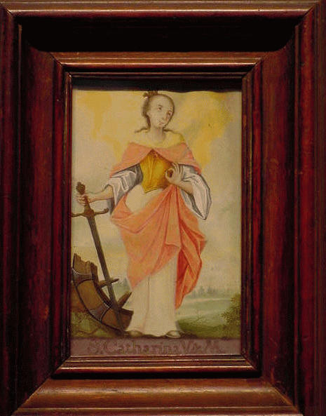 Lot image - German School 18th Century SAINT CATHERINE OF ALEXANDRIA
