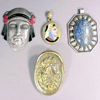 Lot image - Group of Antique Egyptian Theme Medallions