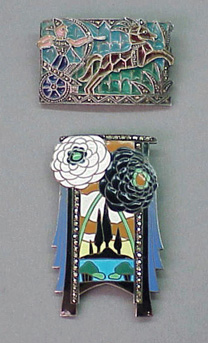 Lot image - Two Pictorial Pins