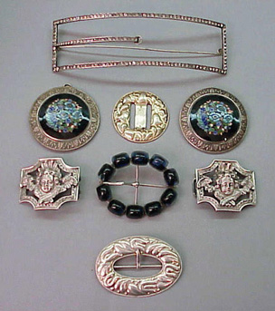Lot image - Group of Antique Buckles