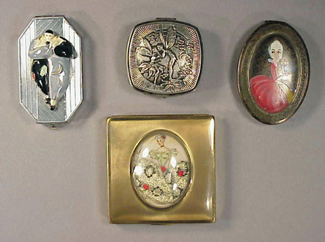 Lot image - Four Figural Compacts