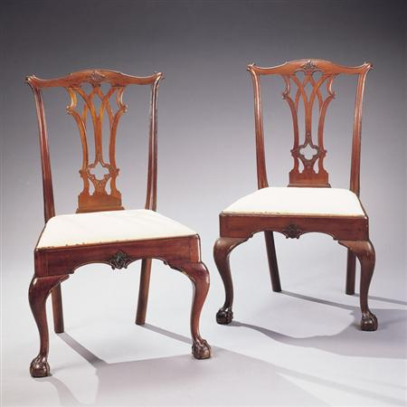 Lot image - The Smith Family Set of Eight Chippendale Mahogany Chairs