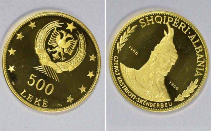 Lot image - Albania: 1968 2.85 Ounce Gold Coin