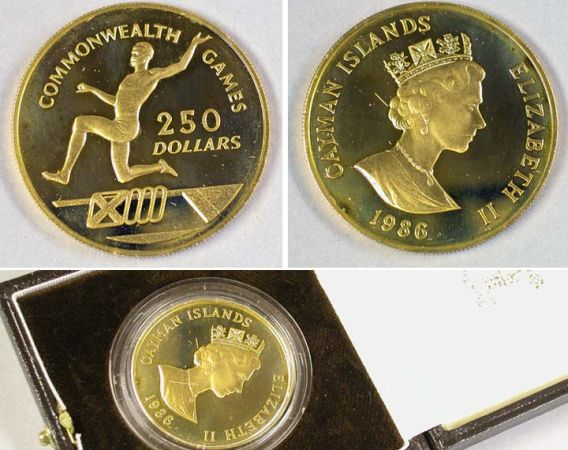 Lot image - Cayman Islands: 1986 1.4 Ounce Gold Coin