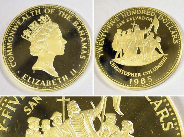 Lot image - Bahamas: 1985 12 Ounce Gold Coin