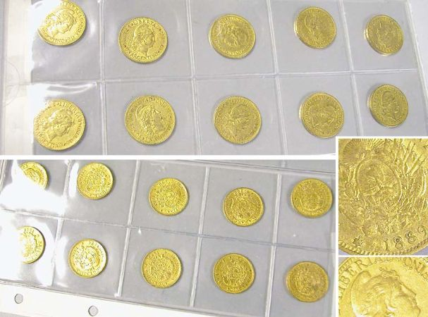Lot image - Argentina: Ten 1 Argentino Gold Coins